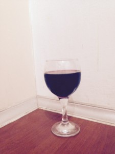 Mulberry Juice in Wine Glass