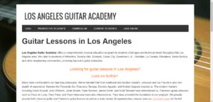 LA Guitar Academy Home Page