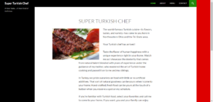 Super Turkish Chef Home Page